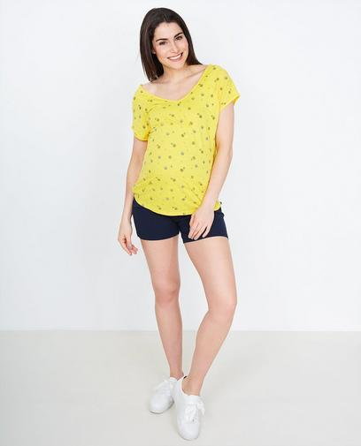 T-shirt jaune vif